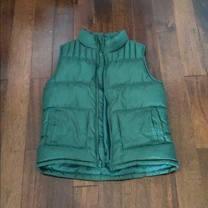 A boys green size 10-12 vest.
